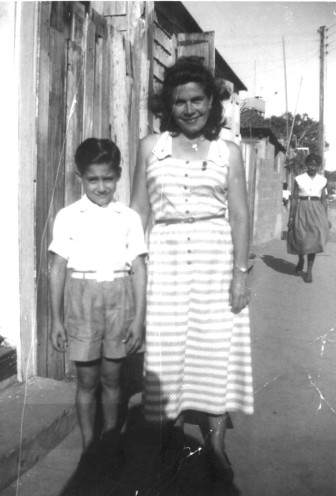 Mike and Mom Rita early to mid-1950's