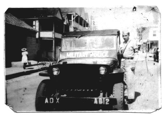 Puerto Rico, Army Jeep, Black and White Army Military Photo