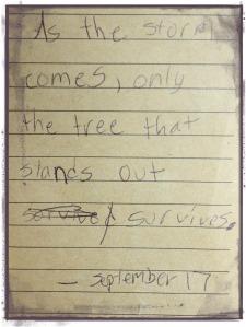 olivia's note