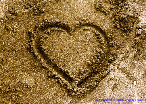 Beach, Sand Art, Heart In Sand