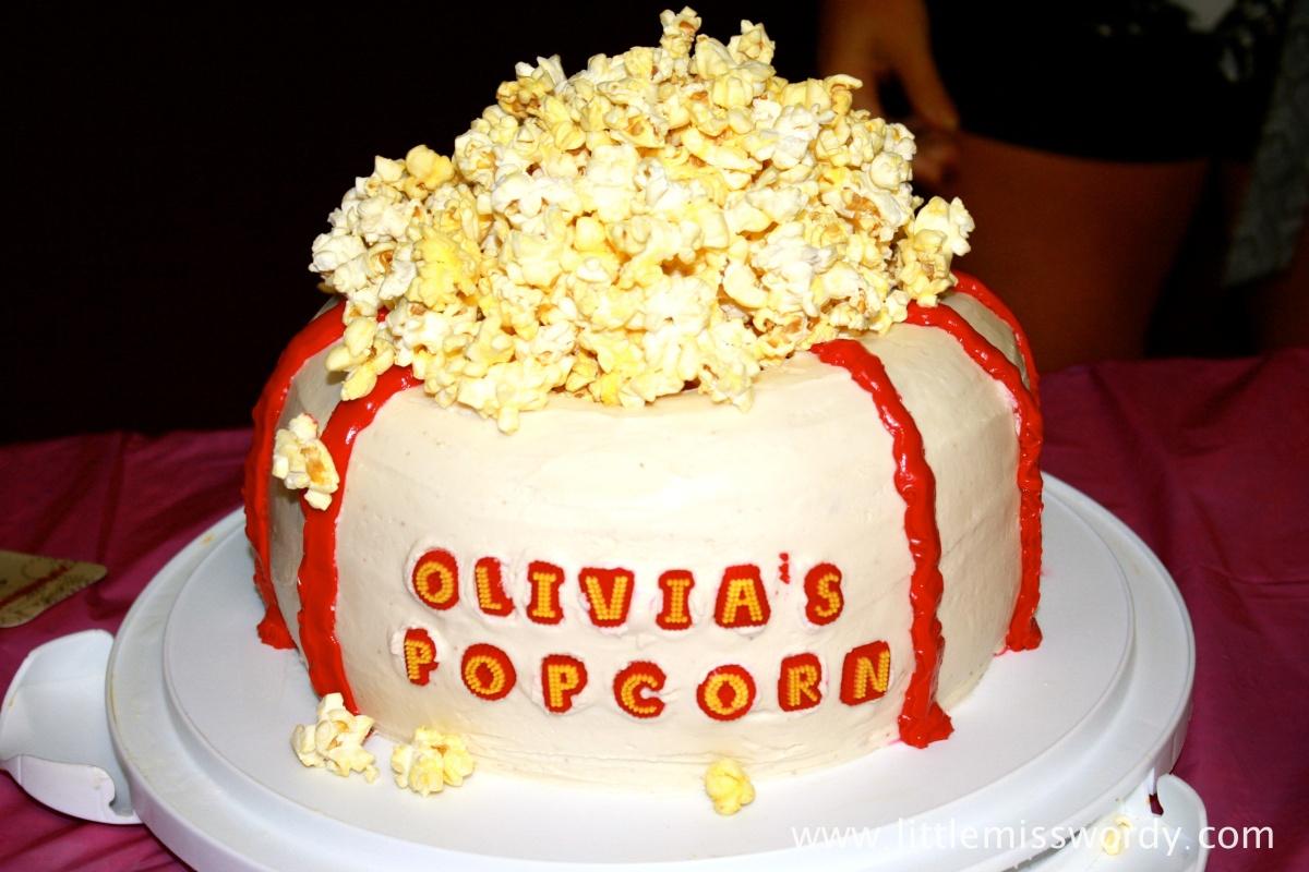 Birthday Cake, Popcorn, Movie Theater Popcorn