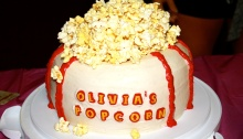 Birthday Cake, Popcorn, Movie Theater Popcorn
