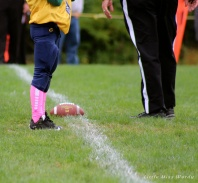breast cancer awareness, pee wee football, pink football socks, think pink,