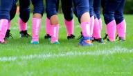 football, breast cancer awareness, pee wee football, pink socks, think pink