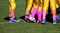 breast cancer awareness, think pink, football, pink socks,