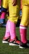 think pink, football, pink socks,