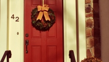 Christmas, Wreath, Front Door, Holiday decoration
