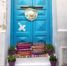 home, front door, greece